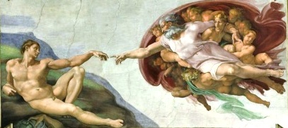 Creation of Adam by Michelangelo, Sistine Chapel Ceiling ...
