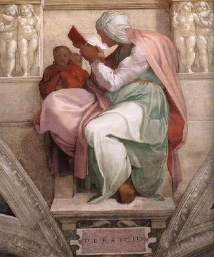 The Persian Sibyl by Michelangelo