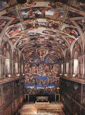 The sistine chapel ceiling michelangelo gallery for Exterieur chapelle sixtine